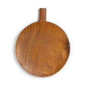 přírodní servírovací podnos z teakového dřeva