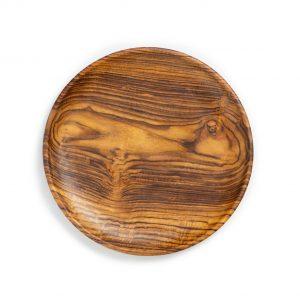 přírodní talíř z teakového dřeva