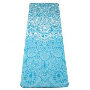 protiskluzová jógová podložka Mandala Turquoise