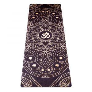 protiskluzová jógová podložka Mandala OHM gold