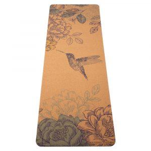 přírodní korková protiskluzová jógová podložka Spring Love 3,5 mm