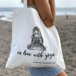 bavlněná eko plátěnka Yoga Girl