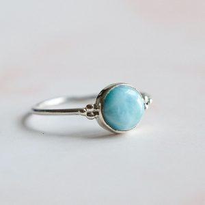 Stříbrný prsten Jasmine s Larimarem