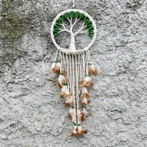 Lapač snů se stromem života zelené korálky