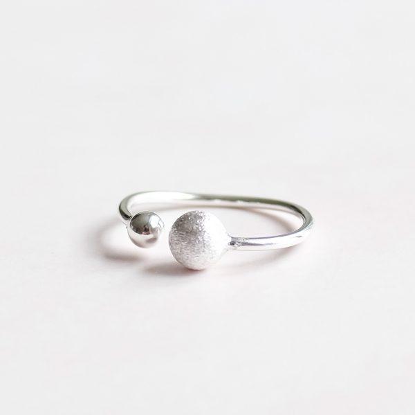 Stříbrný prsten Double Love