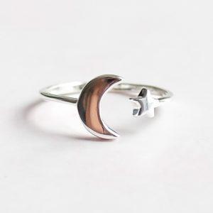 Stříbrný prsten Night Sky