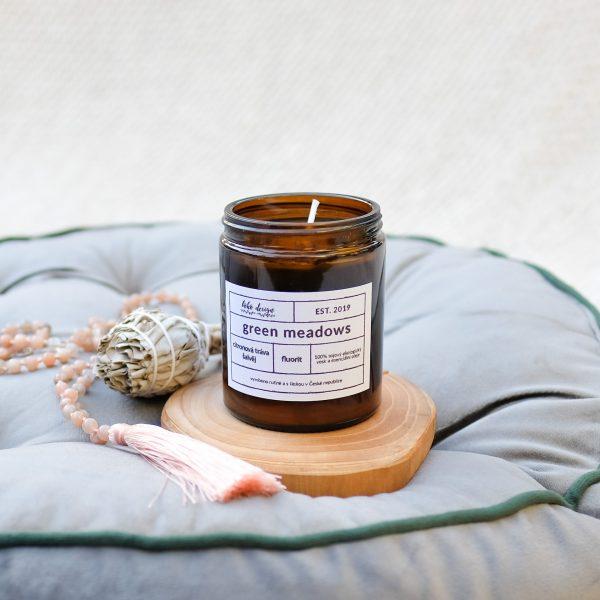 Svíčka Green Meadows ze 100% přírodního sojového vosku