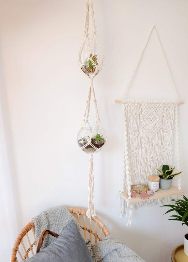 závěsný květináč Double Love v interiéru