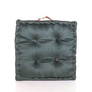 Meditační polštář tmavě zelený hranatý