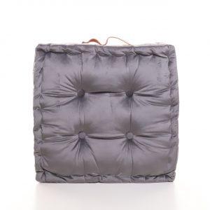 Meditační polštář šedý hranatý