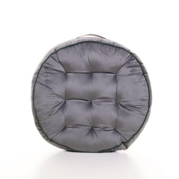 Meditační polštář šedý kulatý