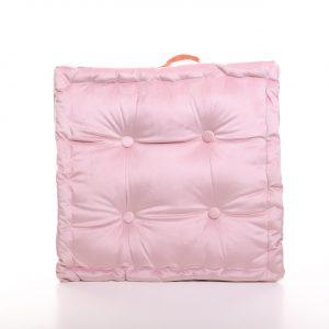 Meditační polštář světle růžový hranatý
