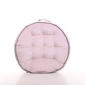 Meditační polštář světle růžový kulatý
