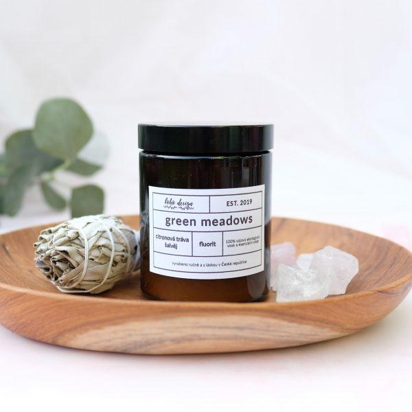 Svíčka GREEN MEADOWS ze 100% přírodního sojového vosku Nature Wax
