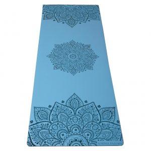 profesionální ultra protiskluzová jógová podložka Mandala Blue Sky