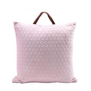 Měkký potah na polštář ružový s uchem