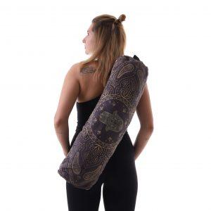 Jógová taška Hamsa Black s pohodlným nastavitelným popruhem