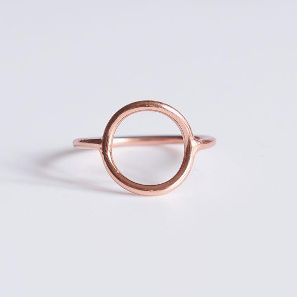Prsten Moon Pink pozlacený růžovým zlatem