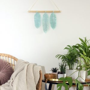 macramé Feathers Sweet Mint co kus to originál
