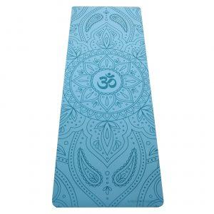 profesionální ultra protiskluzová jógová podložka OHM Blue Sky