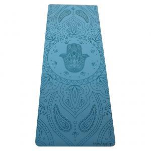 profesionální ultra protiskluzová jógová podložka Hamsa Blue Sky