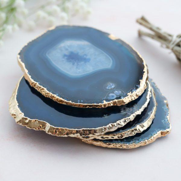 Originální podtácek z přírodního achátu modrého