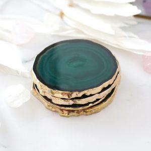 mineralni-podtacek-Achat-zlaty-okraj-originalni-dekorace